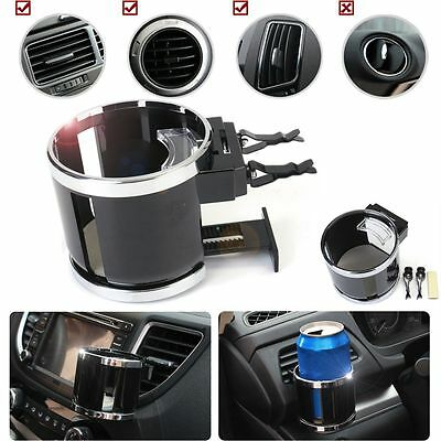 Chrome Universal Car Van Air Vent w/ Clip On Cup Holder Water Bottle Can Drink