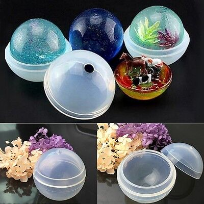 Sphere Ball Shape Silicone Mold Mould DIY Pendant Jewelry Making Tools Craft