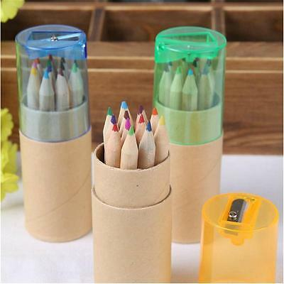 12 Color Pencil Colored Drawing Set For Kids Amateurish With Pencil sharpener CE
