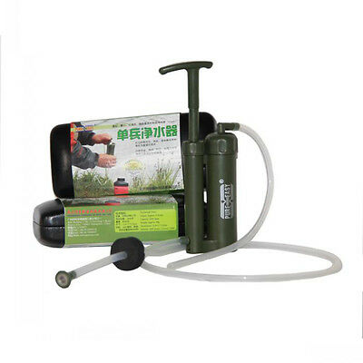 Portable Soldier Water Filter Purifier Cleaner Outdoor Hiking Camping Survival