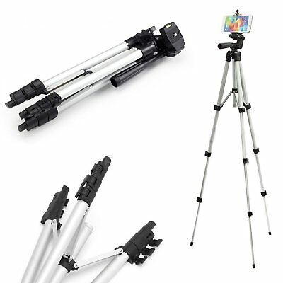 Professional Camera Tripod Stand Mount + Phone Holder for Phone iPhone 8/7/6/6s