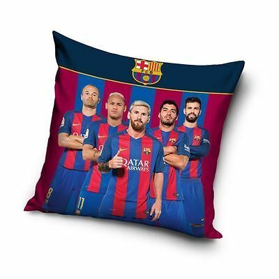Fc Barcelona Stars Filled Cushion Official - Messi Neymar Suarez Iniesta Pique