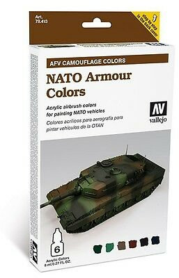 Vallejo | AFV Camouflage #78.413 | Nato Armour Colors (11,50€/1BX)