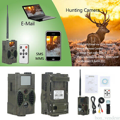 2017 12MP HD Game Trail Hunting Camera Wildlife Scouting Cam Night vision
