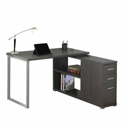 Bowery Hill L Shaped Computer Desk In Gray