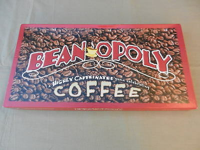 Monopoly BEAN-OPOLY Vintage BOARD GAME Game Celebrating COFFEE - Rare