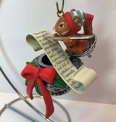 """1990/1991 Enesco Ornament - """"Th-ink-in of You"""" #4 in Chester Chipmunk Series"""
