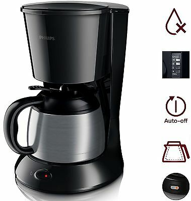 Philips HD7472 20 Daily Serie Thermo Kanne Kaffeemaschine 1000W Edelstahl Black