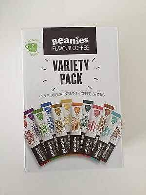 Beanies Flavoured Instant Coffee mini box of 12 individual sachets / sticks