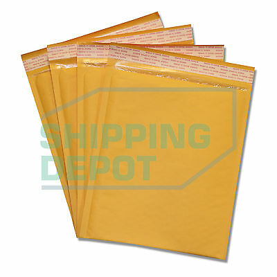"""300 #2 8.5x12 Kraft Bubble Mailers Self Seal Envelopes 8.5""""x12"""" Secure Seal"""