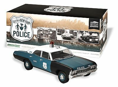 CASE OF 6 GreenLight 1:18 NYPD New York City NYC Police Chevy Biscayne 1 of 1000