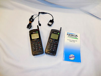 Nokia Model 2160 Cell Phones w/ 1 Hands Free Earbud NO Charger w/ Booklet x2
