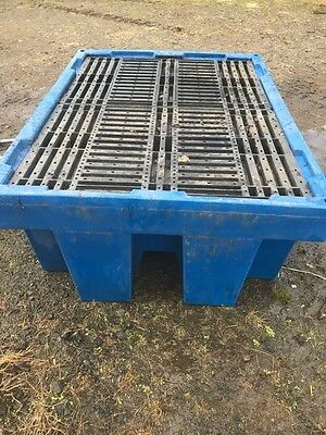 4 Drum Spill Pallet with Framed Cover - Bunded Storage Oil Chemical Spill