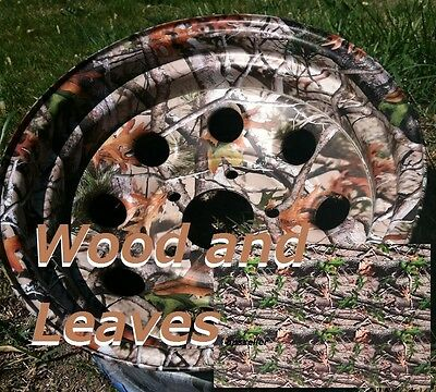 "Dipping Hydrographics Film Water Transfer Printing WOOD & LEAVES CAMO 19x39"" PVA"