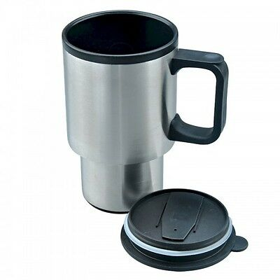 400ml 14oz Stainless Steel Travel Mug Heat Flask Insulated Drinks Cup Mug Car