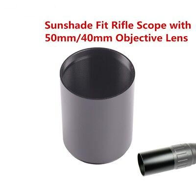 Tactical Alloy Sunshade Tube Shade F Rifle scope with 50mm 40mm Black