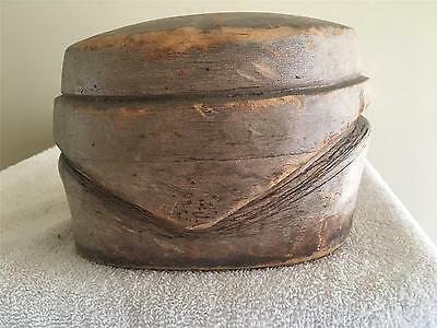 Vintage Wooden Fascinator Crown /millinery Wood Block Hat Making /form/mold/brim