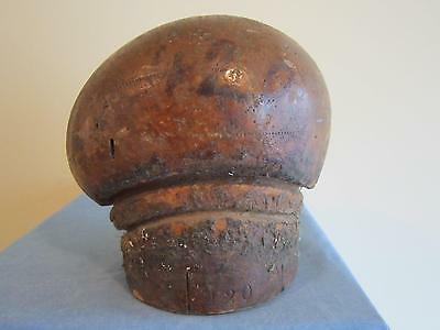 Vtg Side Indent Wood French Beret/millinery Wood Hatmaking Block/form/mold/brim