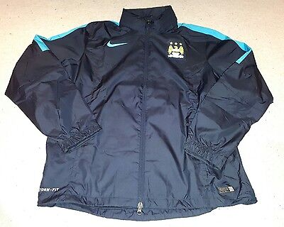 Manchester City Football - Full Zip Storm-Fit Jacket by Nike - Size Large - BNWT