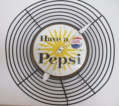 "Vintage ""Have a Pepsi""  1950s  MidCentury Art Deco style Clock"