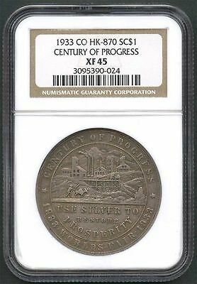 1933 CO HK-870 Silver So-Called Dollar Century of Progress NGC XF-45 -136964