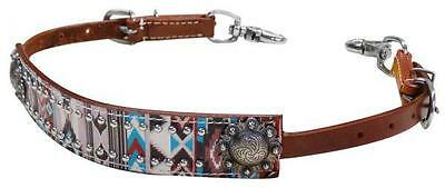 Showman Multi Color Navajo Diamond Print Wither Strap! NEW HORSE TACK!
