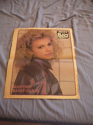 MARTINE ST-CLAIR PIN UP POSTER PHOTO AFFICHE 11.5 x 14 NEWSPAPER CLIPPING