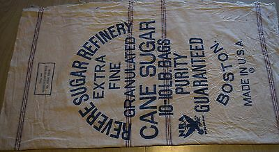 Large vintage cloth Revere Sugar Refinery bag, Boston MA-great label