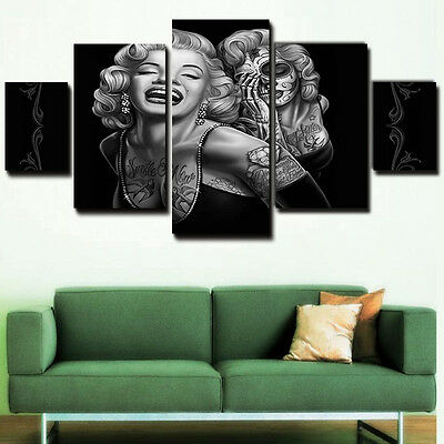 5PCS/Set Marilyn Monroe Home Canvas Wall Decoration Art Painting Picture Print