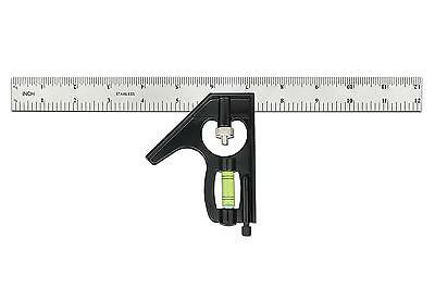 STARRICH Combination Square 12-Inch Heavy Duty Professional Inch/Metric...