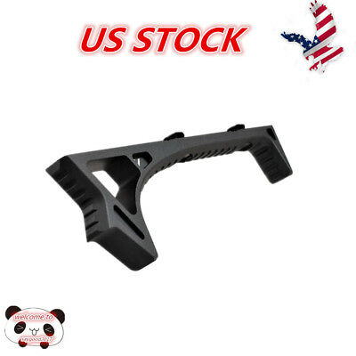 Metal Front Grip LINK Curved Angled Foregrip For KeyMod M-lok Handguard Rail