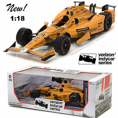 Greenlight 11019 2017 #29 Fernando Alonso Diecast Model Car 1:18 NEW!!!