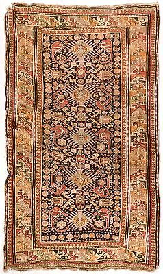 "Antique Caucasian rug. 2'8""x 5'8"""