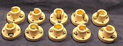 Ceramic E10 Bulb Holder Lot Of 10