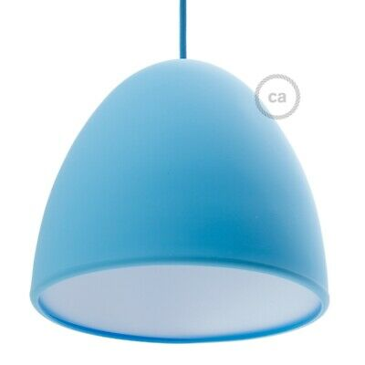 Silicone Lampshade color light blue supplied with diffuser and strain relief. Di