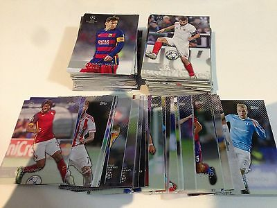 2015/16 Topps UEFA Champions League Showcase- Full Base Set - Card 1-200