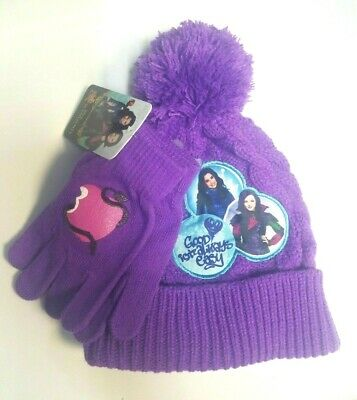 523c65024 Disney's Descendents Girls Ear Flap Hat and Glove Set One Size Fits 4-16 NWT
