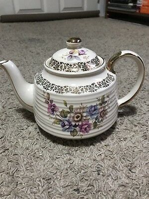 Small Sadler Windsor Teapot Pansies & Violets Made In England