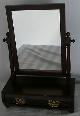 Antique Furniture Vanity 1800's Clasic Empire Style Inscribed Dressing Table