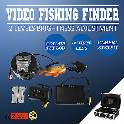 """60m 7"""" LCD Finder Screen Underwater Fishing Video Camera Stable Recorder Colour"""