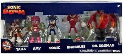 Tails Amy Sonic Dr Eggman NEW Tomy Sonic Boom 5 Figure Pack Knuckles
