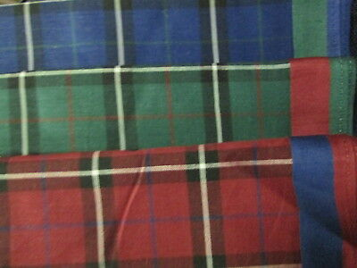 6 Ladies' Tartan Plaid Handkerchiefs SEWARD Quality 100% COTTON