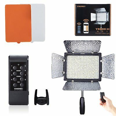 Yongnuo YN300 III Pro LED Video Studio Light 3200K-5500K for Canon Nikon DV US