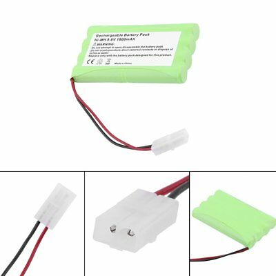 9.6V 1800mAh Flat Ship Model Rc Battery Pack NiMH Car Auto Boat Rechargeable TOP
