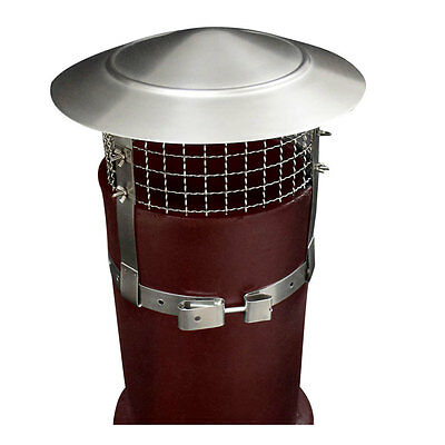 "S.S Anti Bird / Rain Chimney Cowl 1"" Mesh Coal Wood Peat Turf for Fuel"
