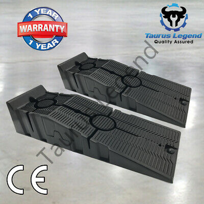 2500kg Heavy Duty Car Ramps Pair 17cm Rise Durable Quality Antiskid Service Ramp