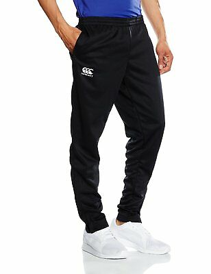 Canterbury Boy's Stretch Tapered Poly Knit Pants - Black/Red/White, Small