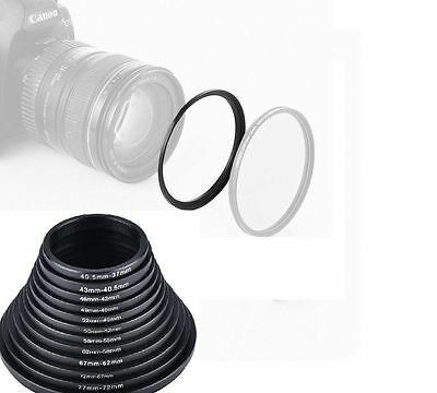 Step Up Down Lens Filter Ring Adapter Set 40.5 - 52mm For Canon Nikon Camera
