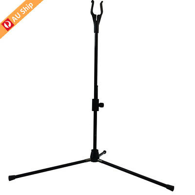 1X Recurve Bow Stand Archery Holder Hanger Rack Hunting Accessories BLACK