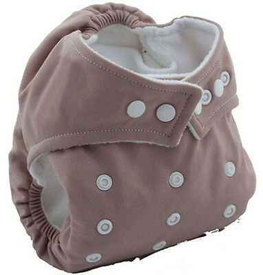 Coffee Baby Kids Infant Insert Adjustable Washable Cloth Diaper Nappies Reusable